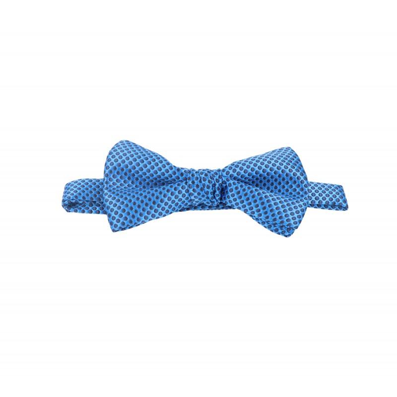 pajarita mini lunares azul boston