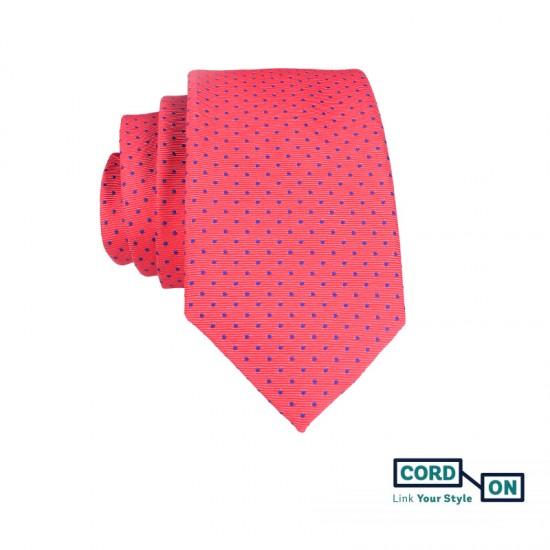 Corbata rosa salmón azul eléctrico Brooklyn
