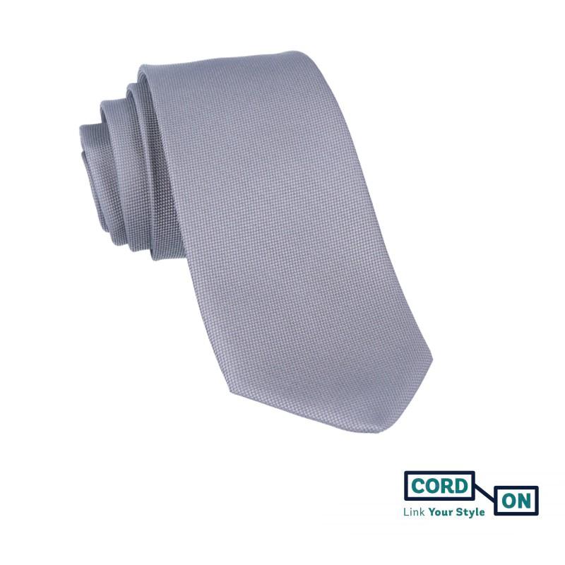 Corbata gris Oxford
