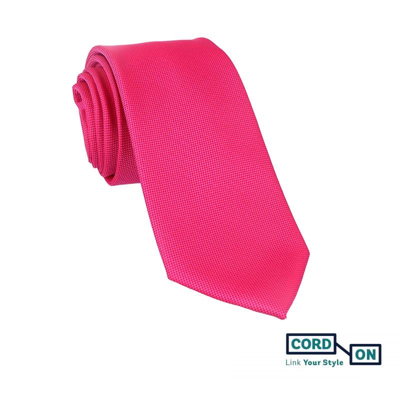 Corbata rosa fucsia Oxford
