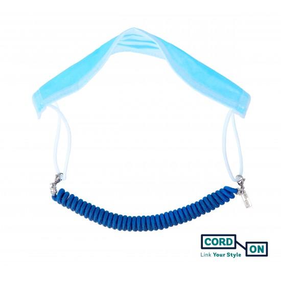 Salvaorejas elástico azul eléctrico Twist-Twist Chic