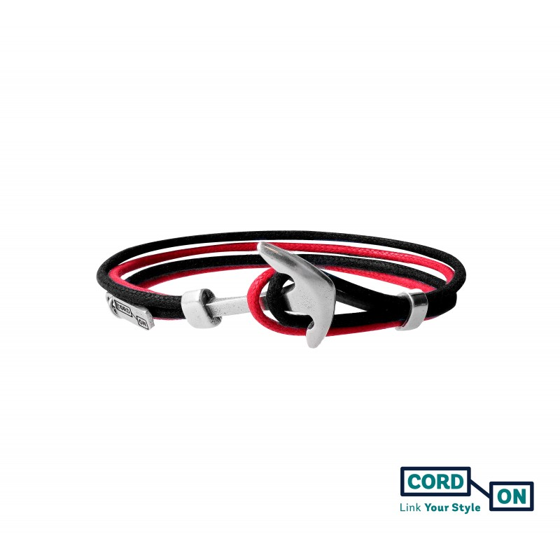 Pulsera rojo negro Grand Pacific
