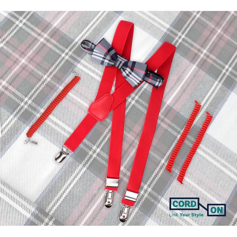 Set rojo complementos infantil Mini Lord Twist