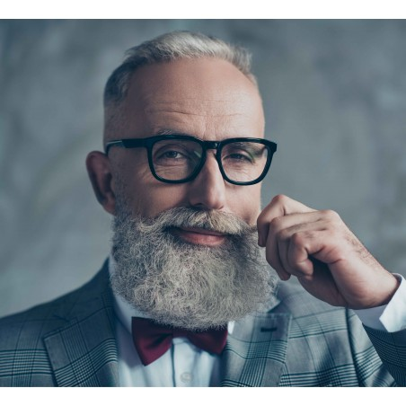 pajarita hombre hipster granate oxford