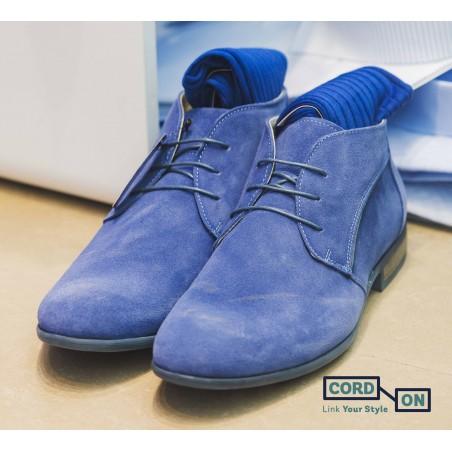 Cordón lustrado redondo calzado azul Medas