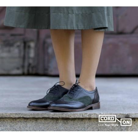 Cordón lustrado redondo calzado azul Marino