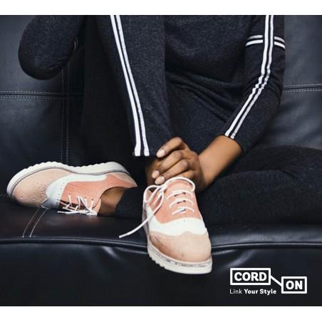 Cordón lustrado redondo calzado Blanco