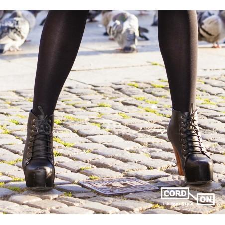 Cordón lustrado redondo calzado Marrón