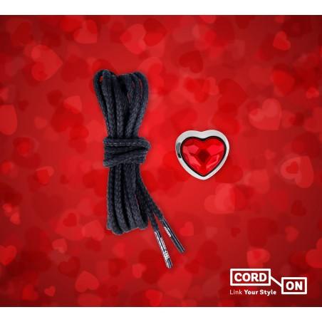 Set cordones rojo negro Autoamor