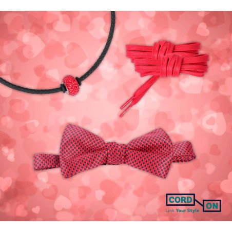 Set pajarita choker cordones rojo negro Endless Tango
