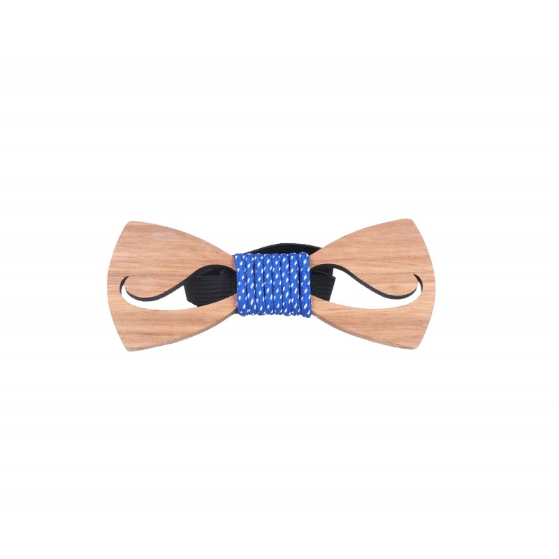 pajarita madera bigote duke cordón topos