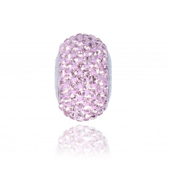Charm Swarovski Pavé Crystal Light Amethyst