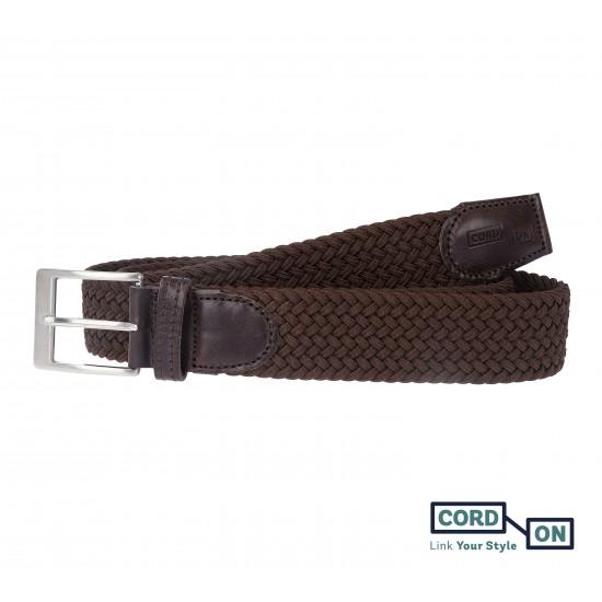 cinturón elástico trenzado marrón sanremo