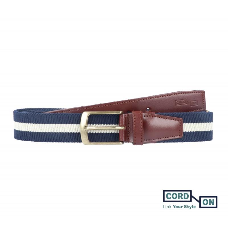 cinturón elástico marino franja vainilla broadway