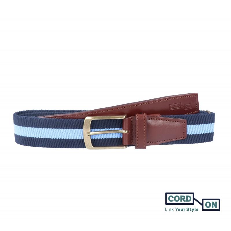 cinturón elástico sport broadway azul marino celeste