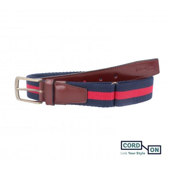 cinturón elástico sport broadway azul rojo