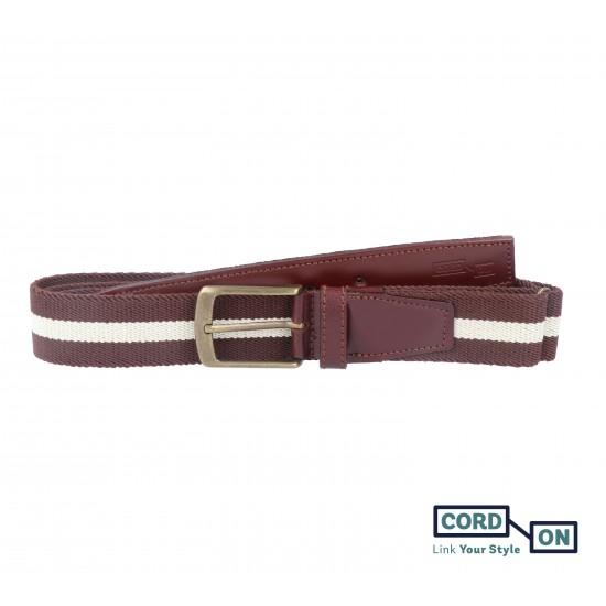 cinturón elástico sport broadway marrón vainilla