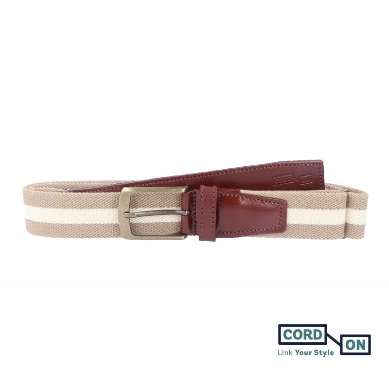cinturón elástico sport broadway marron claro beige