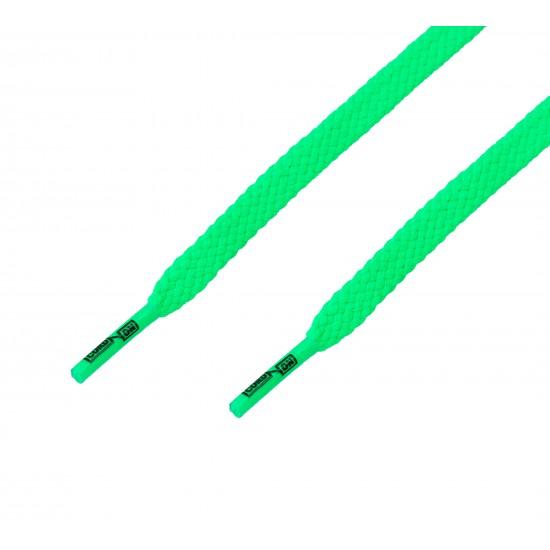 Cordón casual plano Verde Flúor
