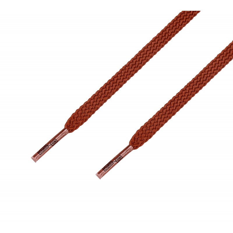 Cordón casual plano marrón Tabaco