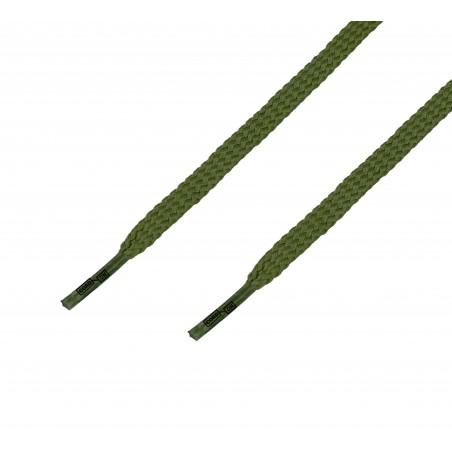 Cordón casual plano verde Kaki