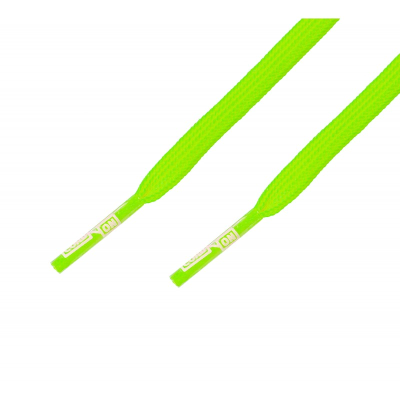 Cordón fino plano Verde Flúor