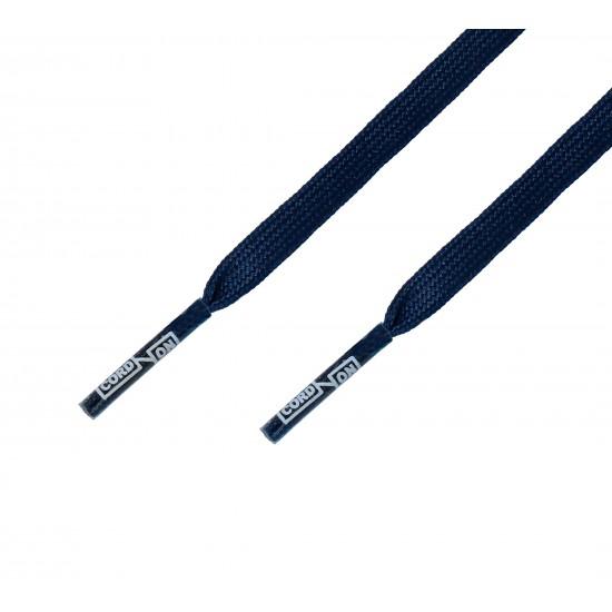 Cordón fino plano azul Marino