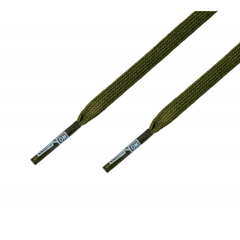 Cordón fino plano verde Kaki