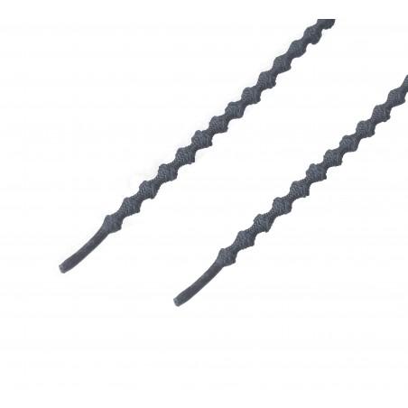 Cordón sport técnico elástico redondo Gris Oscuro