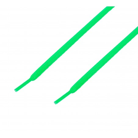 Cordón sport ovalado tubular Verde flúor