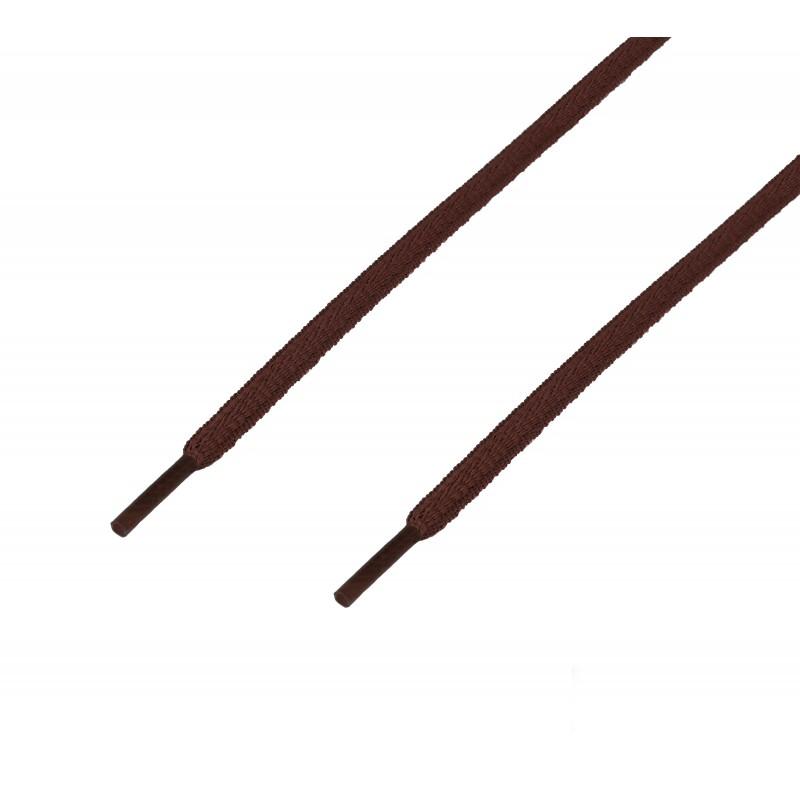 Cordón sport ovalado tubular Marrón