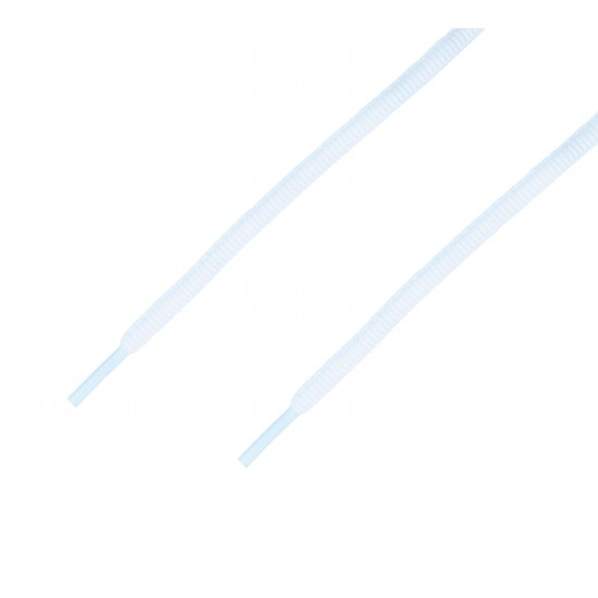 Cordón sport ovalado tubular Blanco Óptico