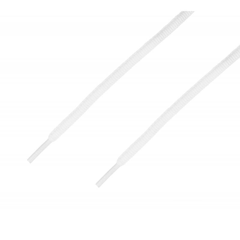 Cordón sport ovalado tubular Blanco