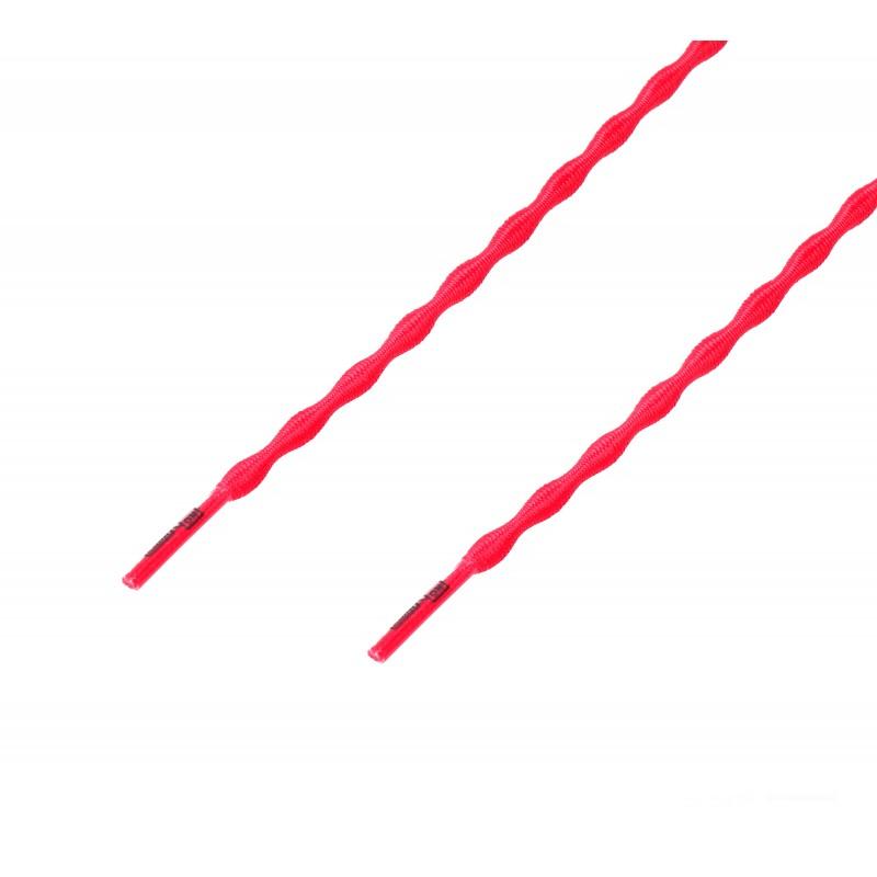 Cordón sport ergonómico elástico plano Rojo