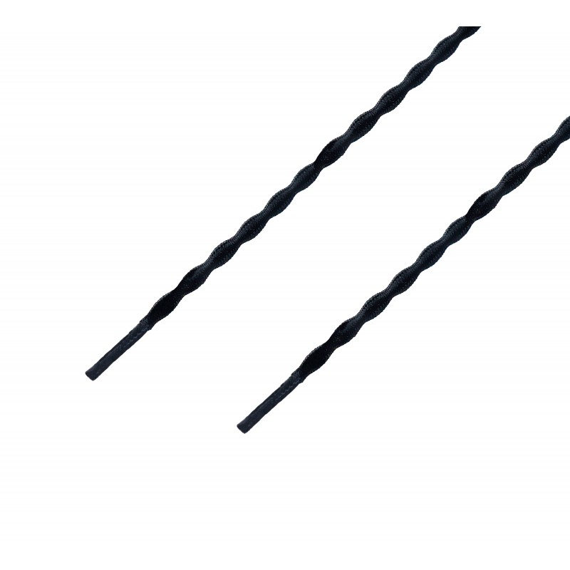 Cordón sport ergonómico elástico plano Negro