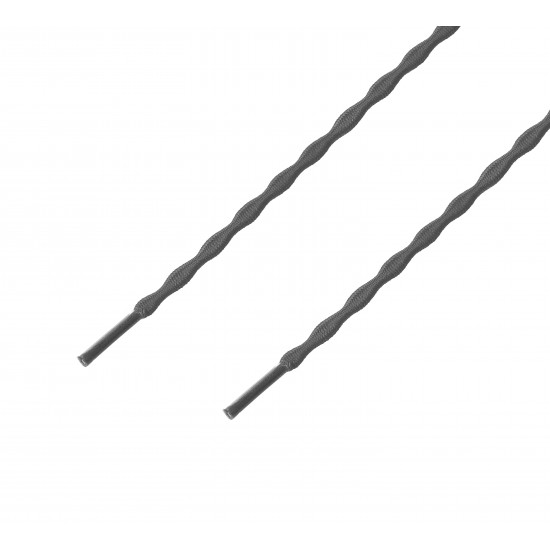 Cordón sport ergonómico elástico plano Gris Oscuro