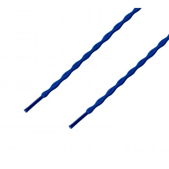 Cordón sport ergonómico elástico plano Azul Eléctrico
