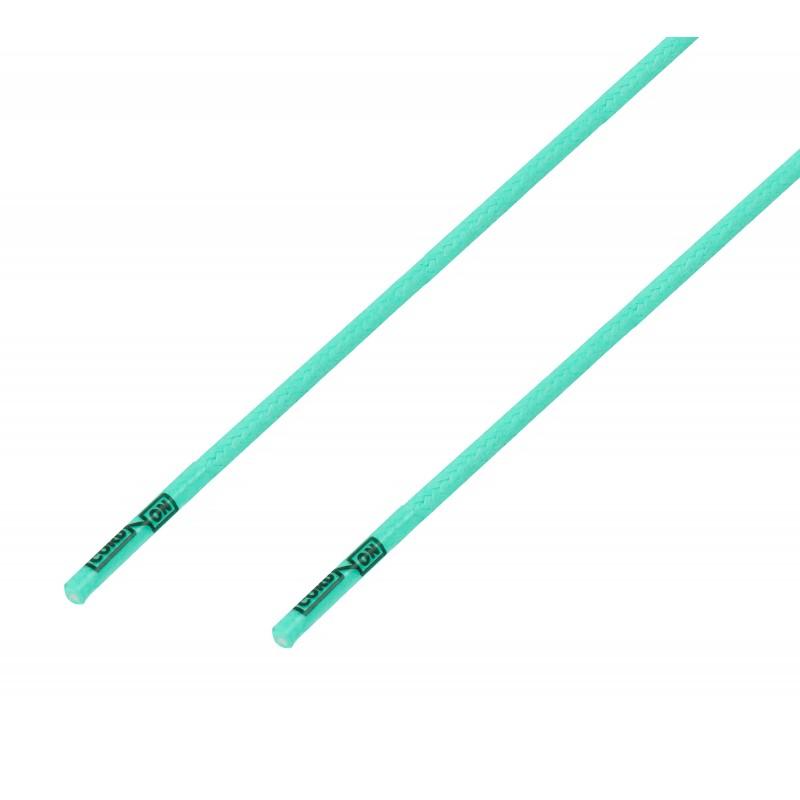 Cordón lustrado redondo calzado verde Trébol