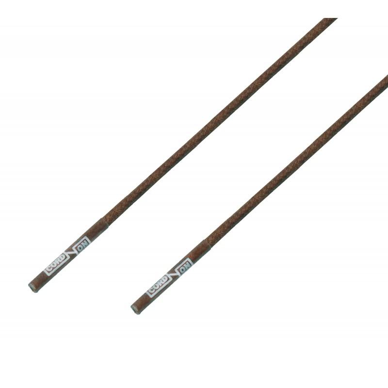 Cordón lustrado redondo calzado marrón Tabaco