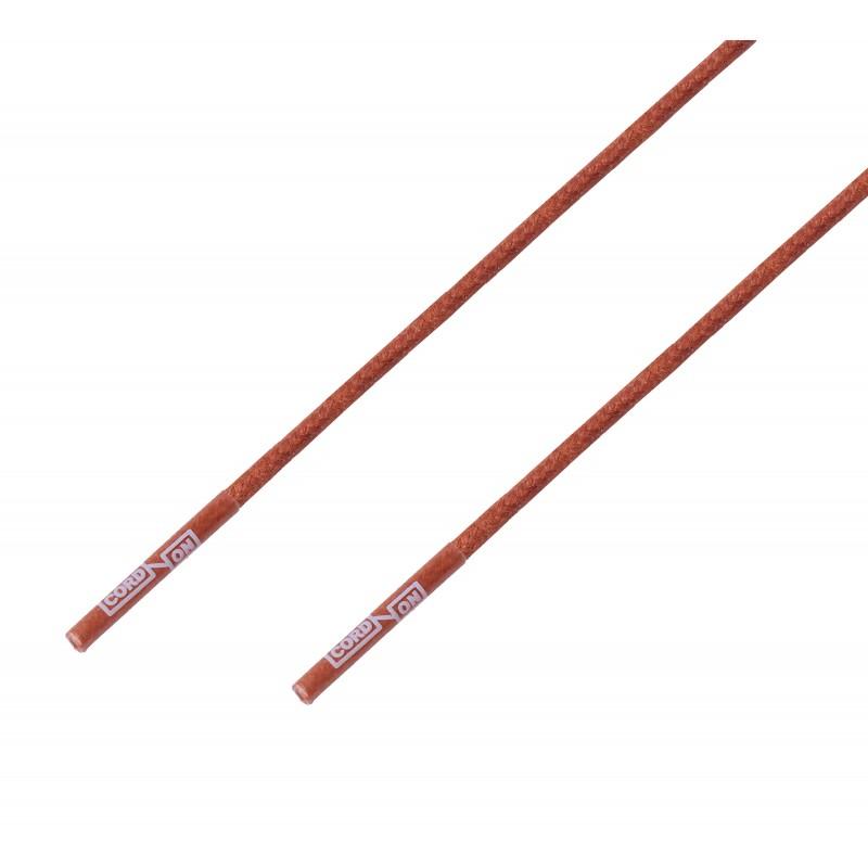Cordón lustrado redondo calzado marrón Ocre