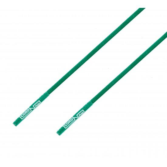Cordón lustrado redondo calzado verde Jungla
