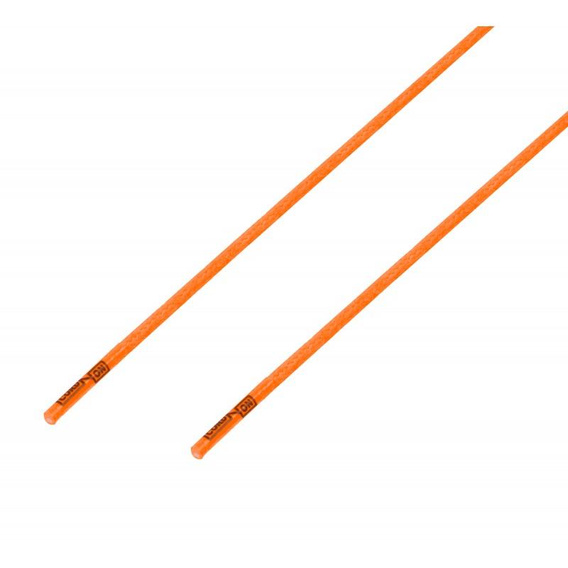 Cordón lustrado redondo calzado naranja Calabaza