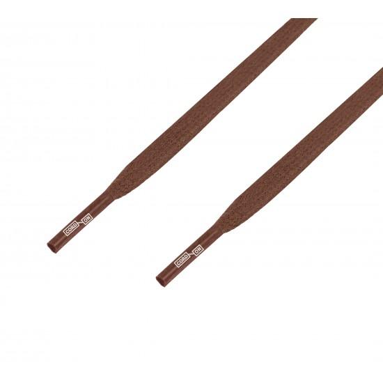 Cordón lustrado plano calzado marrón Tabaco