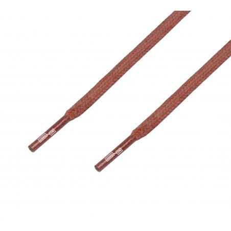 Cordón lustrado plano calzado marrón Ocre