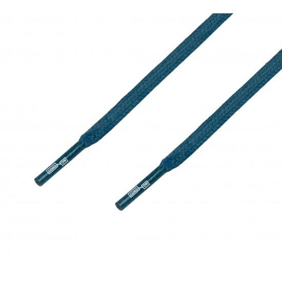 Cordón lustrado plano calzado azul Medas