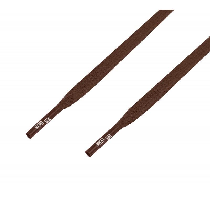 Cordón lustrado plano calzado Marrón