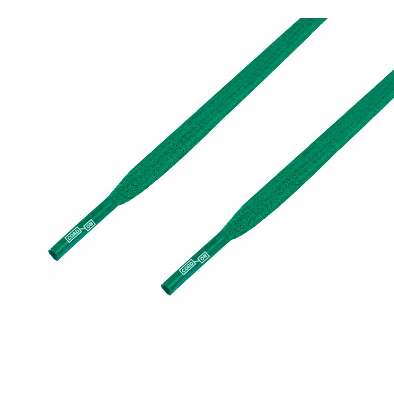 Cordón lustrado plano calzado verde Jungla