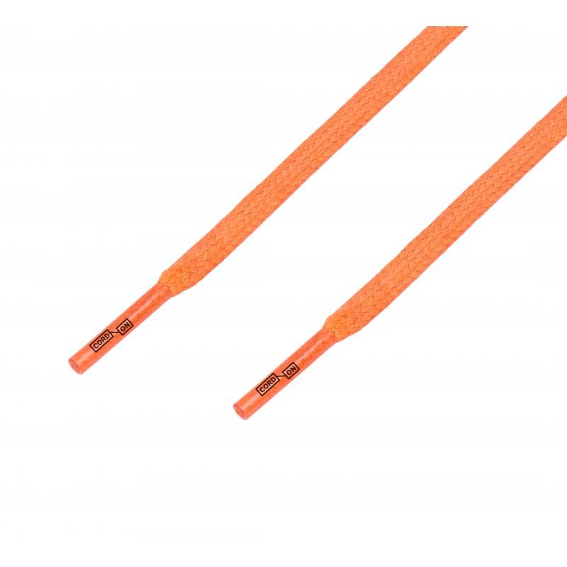 Cordón lustrado plano calzado naranja Calabaza