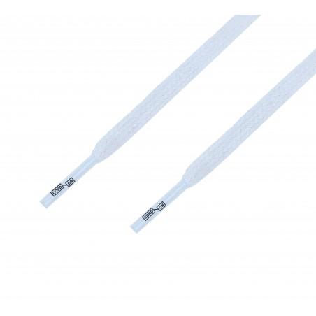 Cordón lustrado plano calzado Blanco