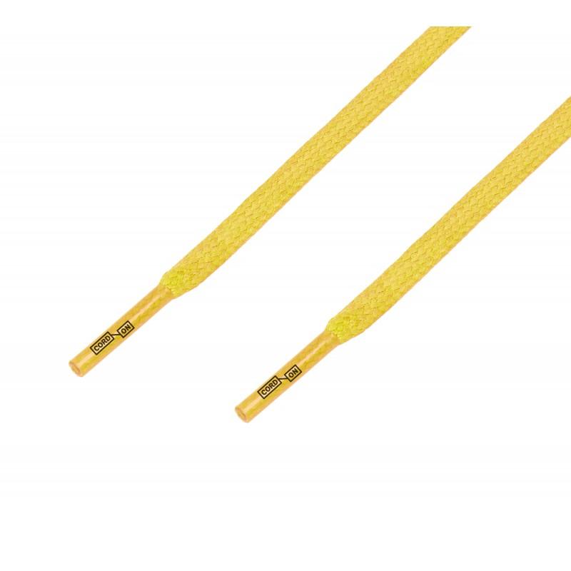 Cordón lustrado plano calzado Amarillo